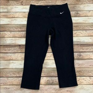 Nike Black Dri-Fit Athletic Capris
